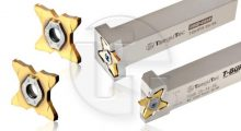 New QUADRUSH 34 Inserts and Holders for Deep Grooving Parting Applications